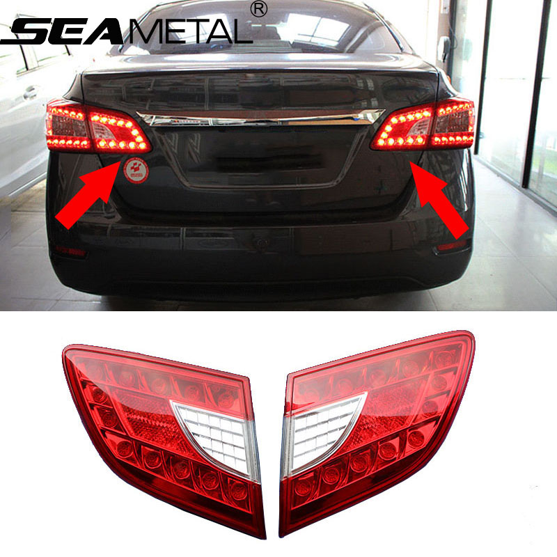 где купить  Car Tail Light For Nissan Sentra 2014 2015 Trunk Lamp LED Inside Taillight Assembly Rear light Auto Lights Accessories Styling  дешево