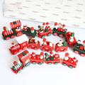 1 pcs 4 Style Creative Wooden Small Christmas Train Christmas Decoration Small Gift Children's Traffic Toy Christmas Train Gift
