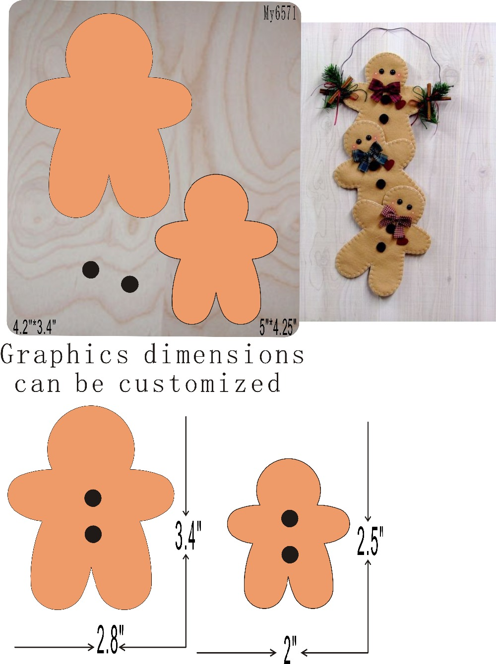 Christmas Ornaments Die Cutting  & Wooden Dies Fit -// Scrabooking