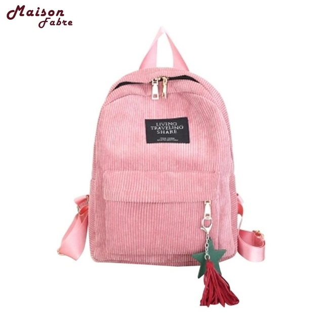 6eadec576baf9 Maison Fabre Fashion Backpack New Women Cute Canvas Tassel Zipper Solid  Travel School Bags 2017 Hot DropShipping OB23-in Backpacks from Luggage    Bags on ...
