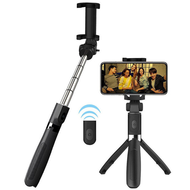 b08862cb69f609 EastVita L01 Smart Selfie Stick 360 Degree rotatable Tripod Extendable  Wireless Bluetooth 4.0 Remote Control for IOS Android r25