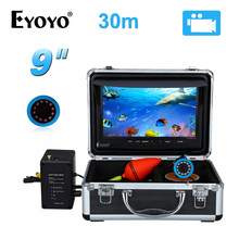 EYOYO 30M 9″ LCD Display Fish Finder English Russian Menu Underwater Fishing Camera DVR Video Recorder Infrared LED Fishfinder