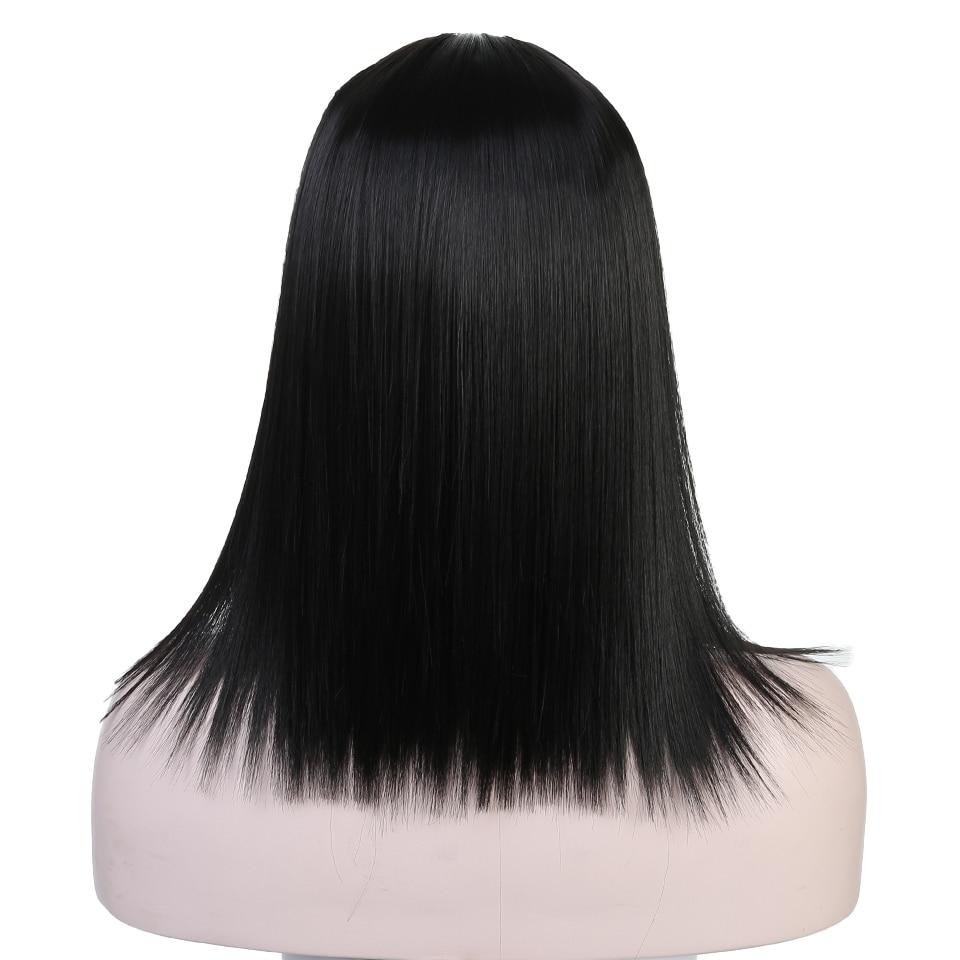 AOSIWIG черный Цвета короткие прямые парики высокого Температура волокна синтетические волосы костюм вечерние Косплэй парик