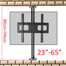 A10M-86 2019 new 23-65 stainless steel LCD TV stand mounts bracket in Partition wall 360 rotate height adjust 110cm 86cm 114cm
