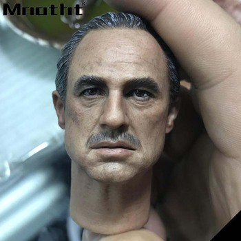Al Pacino Head Sculpt 1/6 Scale Male Soldier Marlon Brando Head Carving Model toys m3 DIY Action Figure Accessories