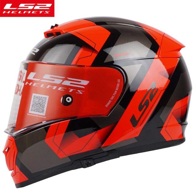 18782941fa9 LS2 FF390 full face motocycle helmet anti-fog sun visor shield Pinlock motorbike  helmet racing helmet DOT approve moto helmets