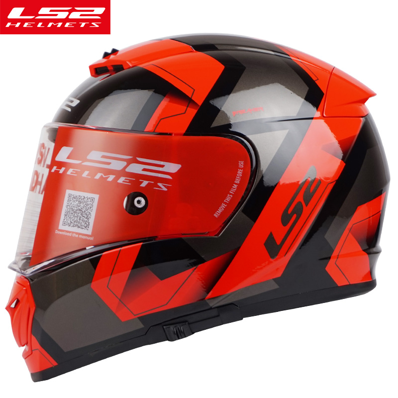 LS2 FF390 plein visage moto cycle casque anti-brouillard pare-soleil bouclier Pinlock moto rbike casque racing casque DOT approuver moto casques