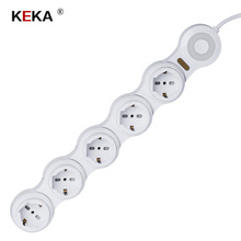 KEKA EU standard Plug socket 1 TO 5 power socket adjustable Kitchen Table Electrical Socket Power 1 Led extension socket все цены