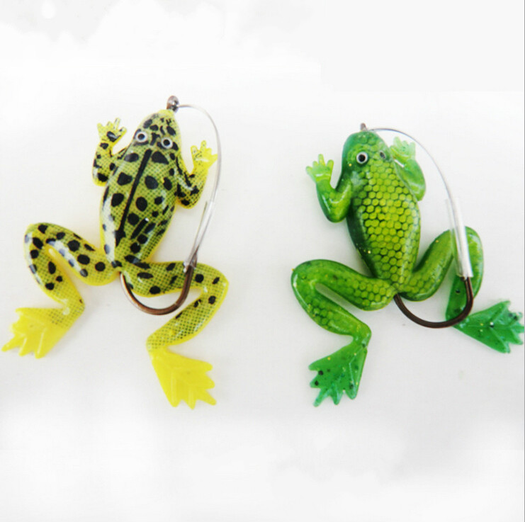 1pc rubber frogs soft fishing lures bass fishing lures new for Frog lures for bass fishing