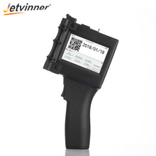 Jetvinner Handheld Inject Printer for Food Packing Label Machine Cosmetics Plastic Glass Metal Pipe Stone Wood