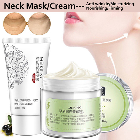 100g+80g Six Peptides Neck Cream Anti Wrinkle Remove Neck Mask Whitening Firming for Neck Masks Skin Care Delicate and Slippery Lahore