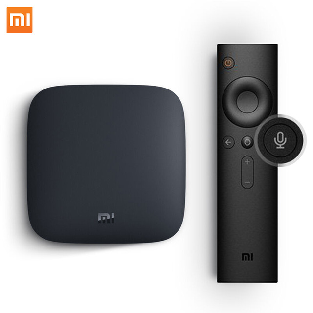 Global Version Xiaomi MI TV BOX 3 Android 8.0 Smart Set top 4K Quad Core eMMc 8GB Youtube Sling TV Netflix DTS Dolby