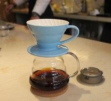 Percolators 360 ml espresso kaffee server + v60 kaffee tropf sets brewer kaffee keramik filter und glas server