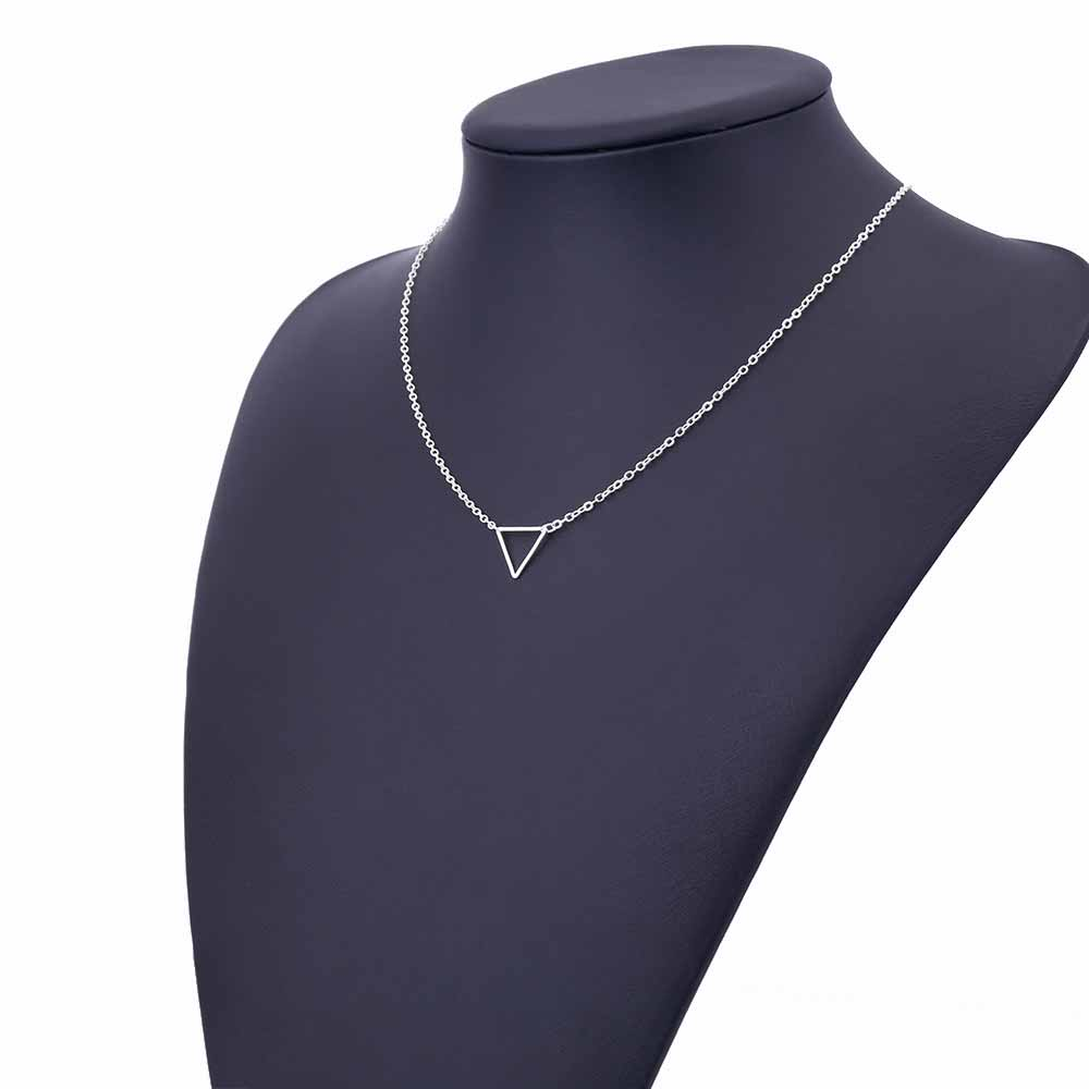 Charm necklace metal triangle Pendant Necklaces ladies gift 7