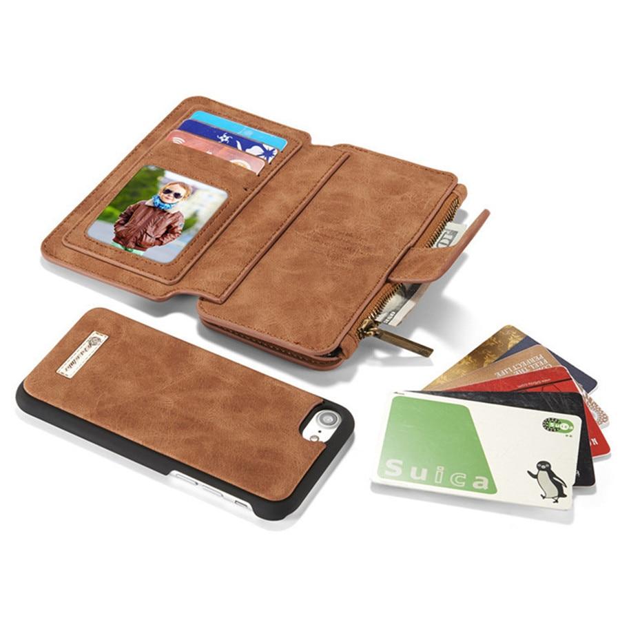 Untuk iPhone 6 Kasus Kulit Sapi Kulit 2in1 Balik Dompet Telepon Bag - Aksesori dan suku cadang ponsel - Foto 6