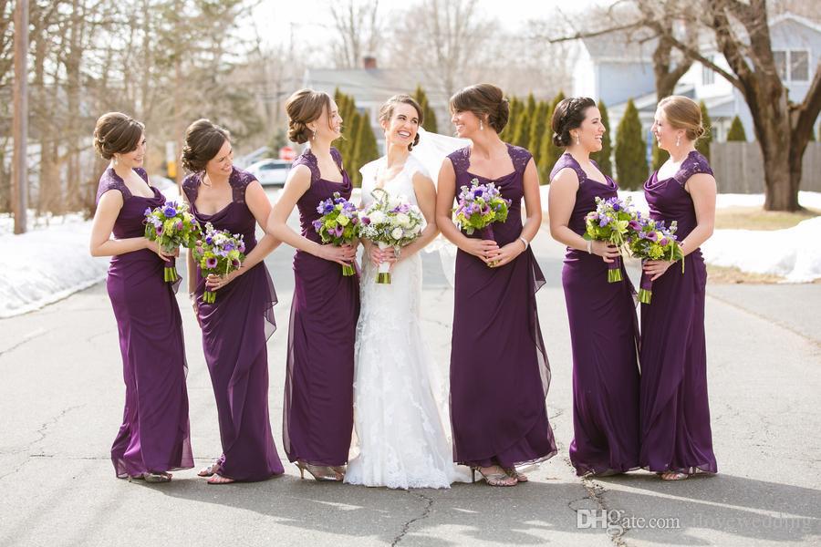 Online Get Cheap Purple Vintage Lace Bridesmaid Dresses ...