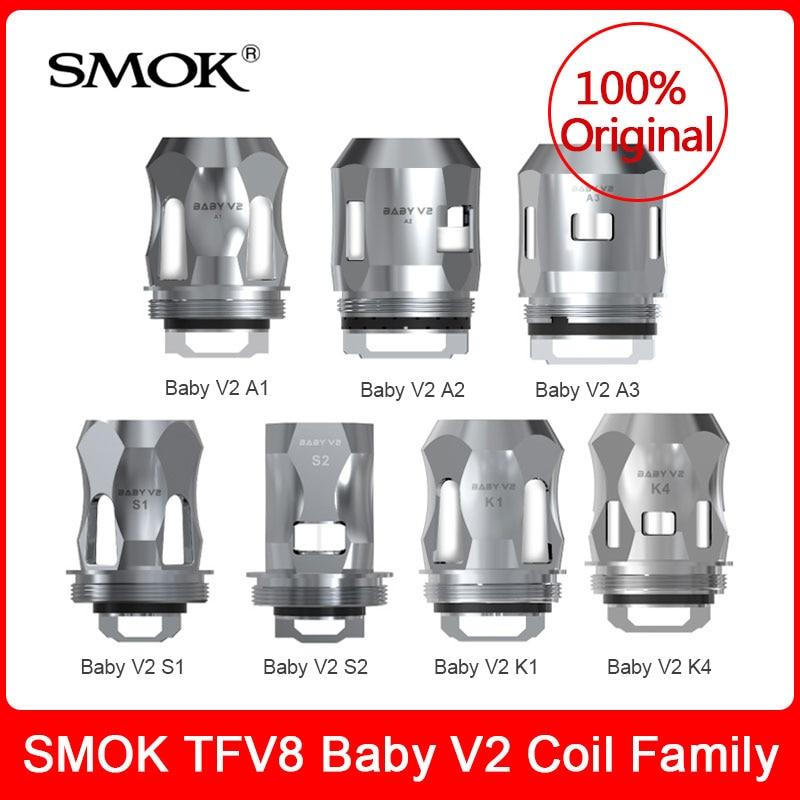 Original SMOK TFV8 Baby V2 Coils--A1/A2/A3/S1/S2/K1/K4  Replacement Coils For TFV8 Baby V2 Tank/ TFV-Mini V2 Tank E-cigarette