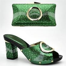 73974b31 Últimas africano zapatos y bolsos italianos de las mujeres nigerianas boda  zapatos y bolsa conjunto decorado