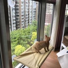 Cat Hammock Bed Basking Window Mounted Sofa Mat Lounger Perch Cushion Hanging Shelf Seat with Suction Cup