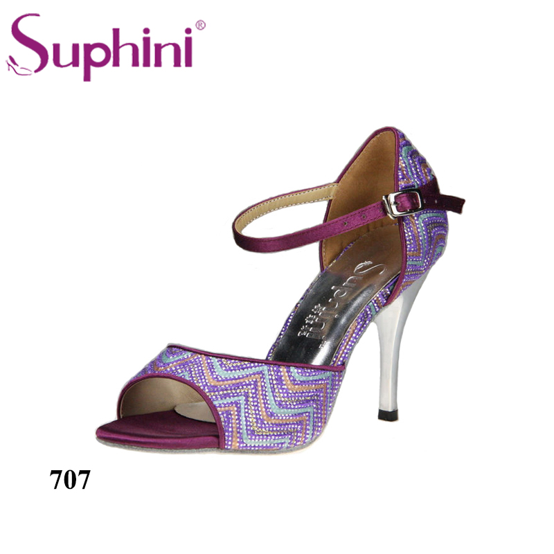 Suphini Party Shoes Quanlity Guarantee High Heel Tango Dance Shoes Woman Dance Shoes FREE SHIPPING цена