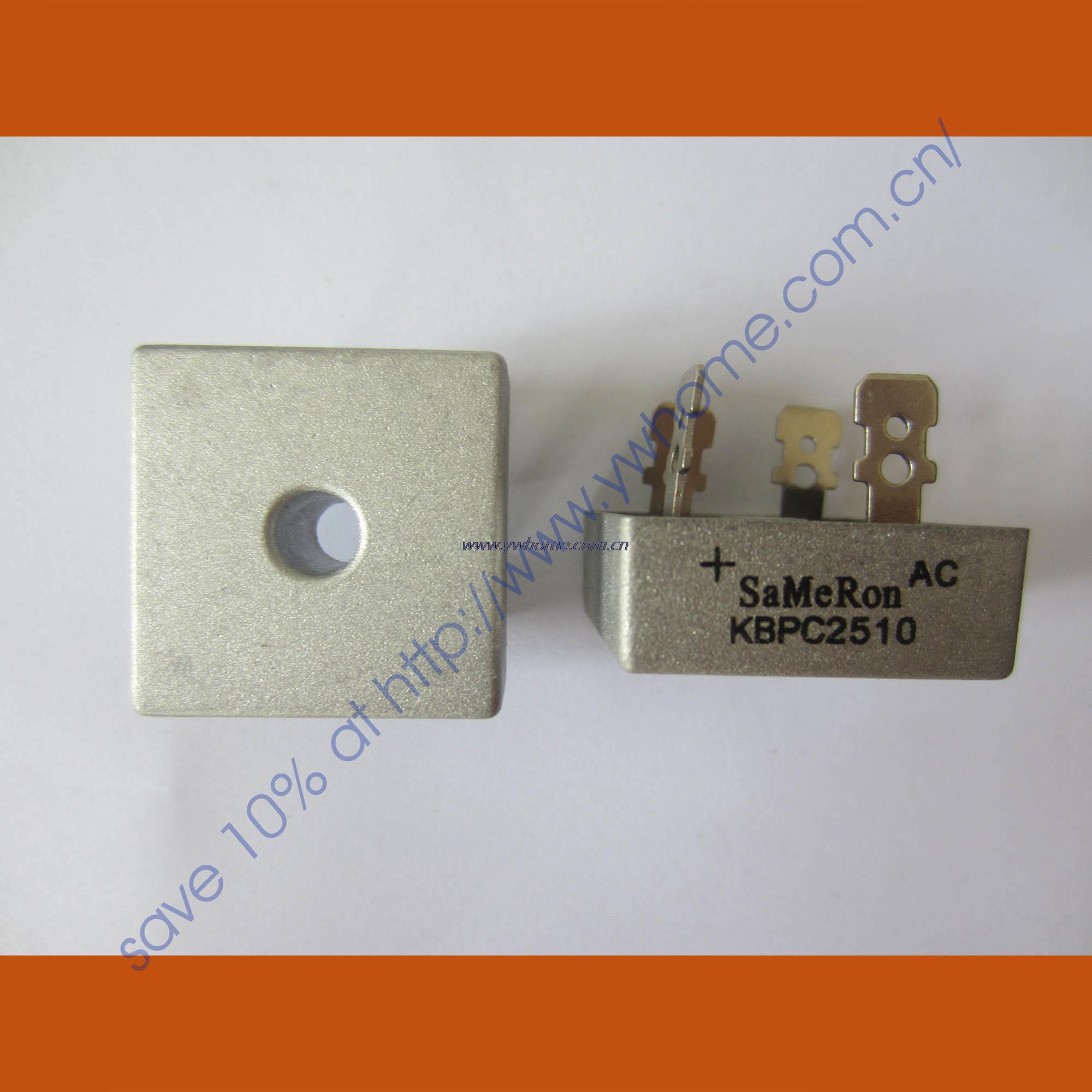 New SEP KBPC2510 Metal Case 25A 1000V Bridge Rectifier