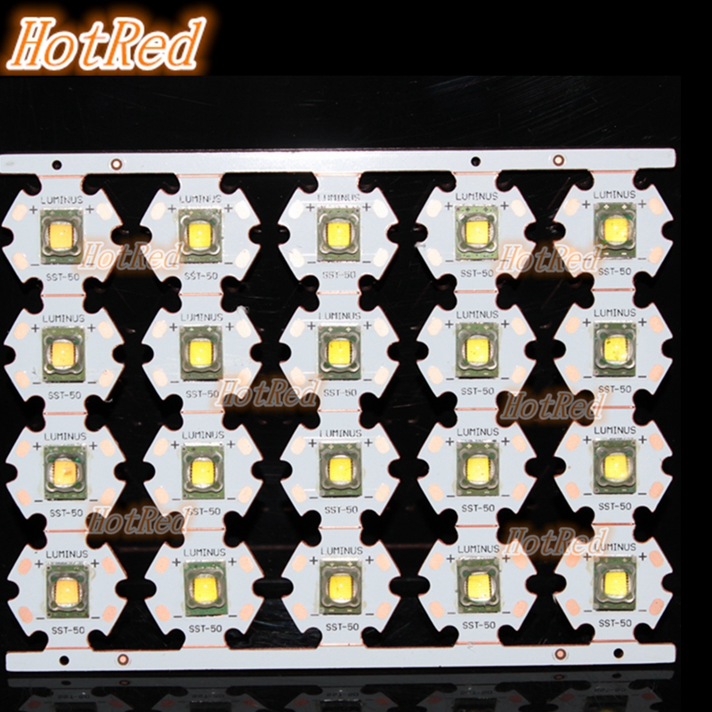 Original 15W Luminus SST-50 SST50 20MM Copper PCB Cold White 6500K Warm White 3000K Led Light 1300LM For Flashlight Torch 75mmx30mm dc 12v 0 24a 2 pin computer pc sleeve bearing blower cooling fan 7530 r179t drop shipping