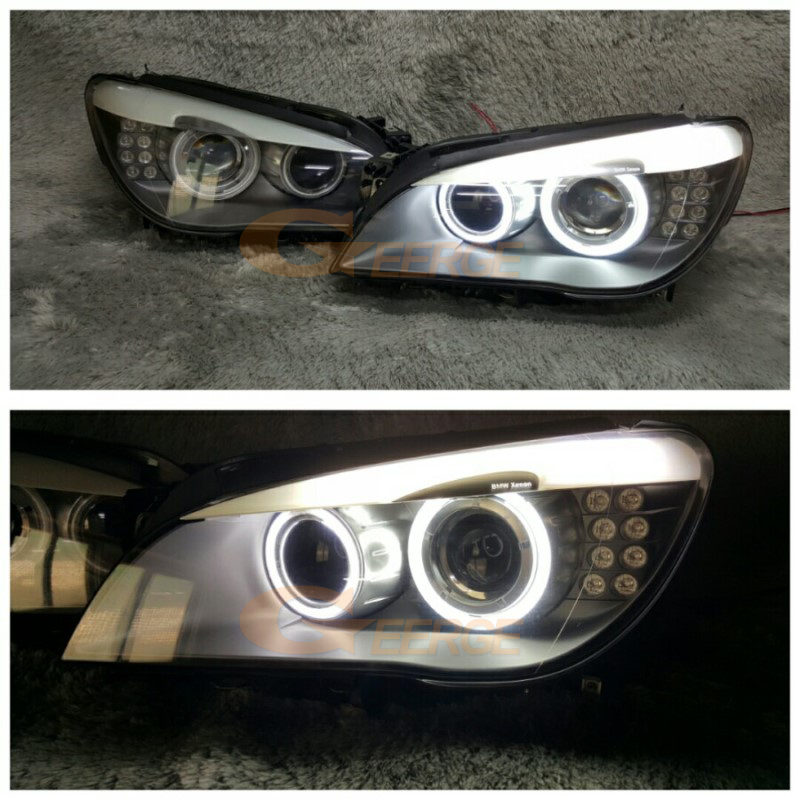 BMW F01 F02 F03 F04 750 760 BI-XENON HEADLIGHTS 2008-2012 ccfl angel eyes(25)