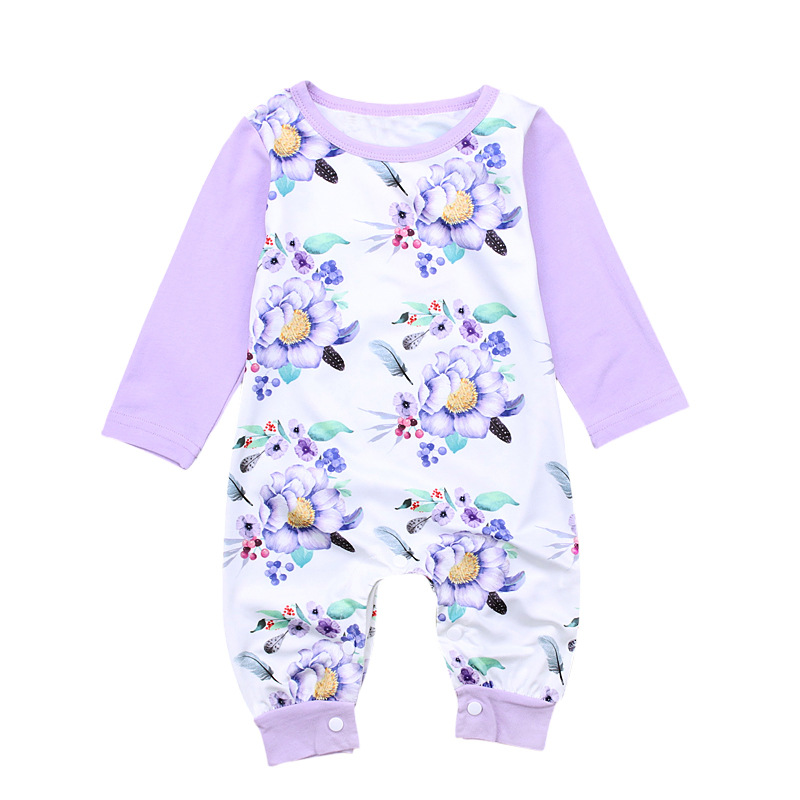 Cute Baby Girl Rompers Newborn Infant Baby Clothing Flower Long Sleeve Cotton Jumpsuits Bebes Infantil Meninas Clothing Outfit baby rompers long sleeve baby boy clothing children jumpsuits autumn cotton infant clothing newborn baby girl clothes