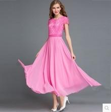 MCQY8267M The new spring 2017 gown prom font b dresses b font Bohemian chiffon lace long