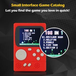 Image 2 - Новый PXP 8 битный Ретро видео Игровая приставка PVP270 PVP3000 Ручной игровой автомат с 198 футболки с принтами на тему классических игр для детей и взрослых Портативный
