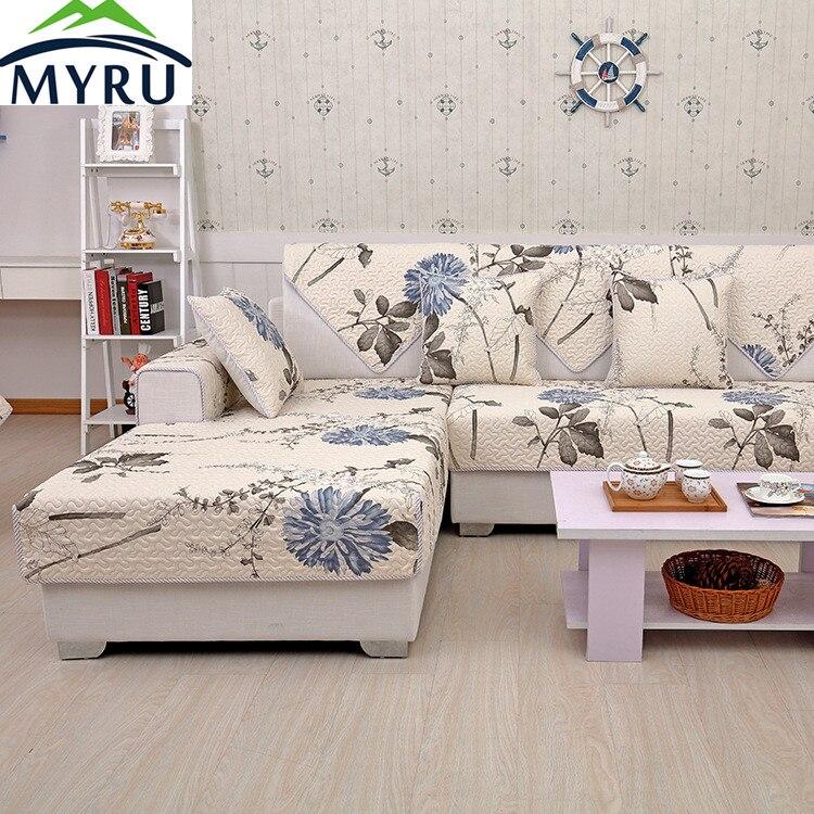 MYRU  Hot Sale  Pastoral Sofa Covers Slip-resistant Sofa Towel Sofa Slipcover Pattern Covers for Sofa