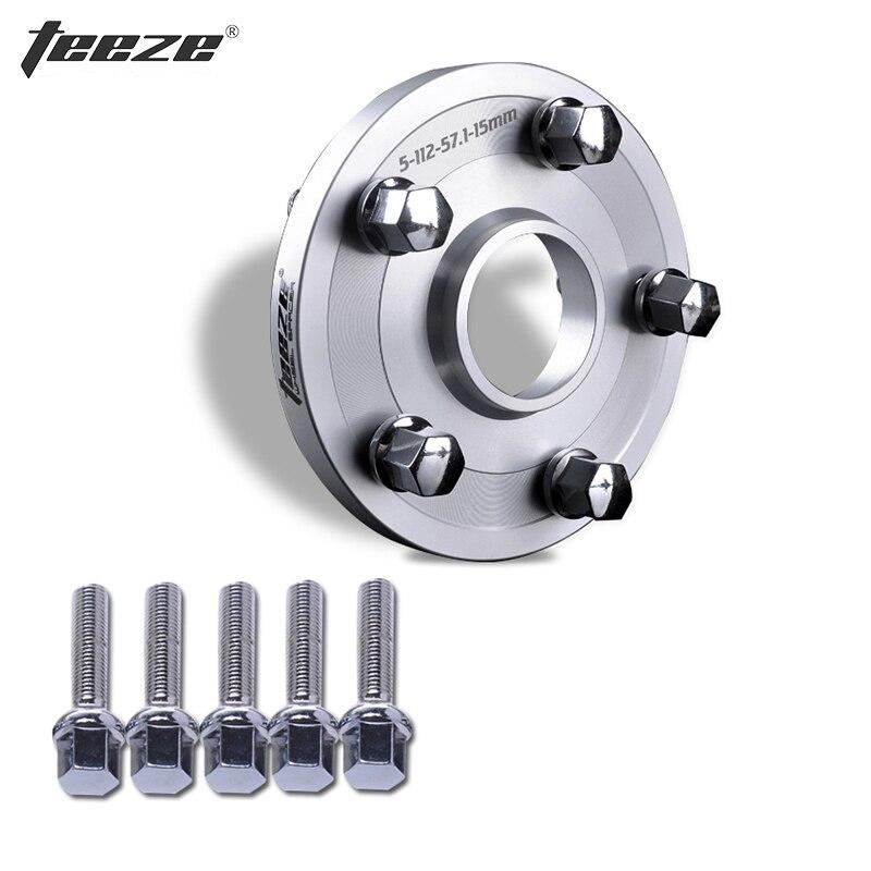TEEZE-(1 PC) accessoires de roue 6061-T6 entretoises de roue en alliage d'aluminium 5x108 CB 65.1 pour adaptateur de roue RCZ avec boulons