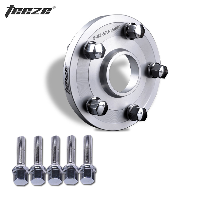 TEEZE-(1PC) Wheel Accessories 6061-T6 Aluminum Alloy Wheel Spacers 5x108 CB 65.1 for RCZ Wheel adapter with Bolts цена