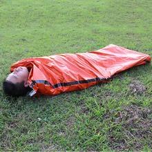 Outdoor Sleeping Bag Ultralight Hiking Portable Emergency Sleeping Bags Lightweight Polyethylene Sleeping Bag for Camping Travel