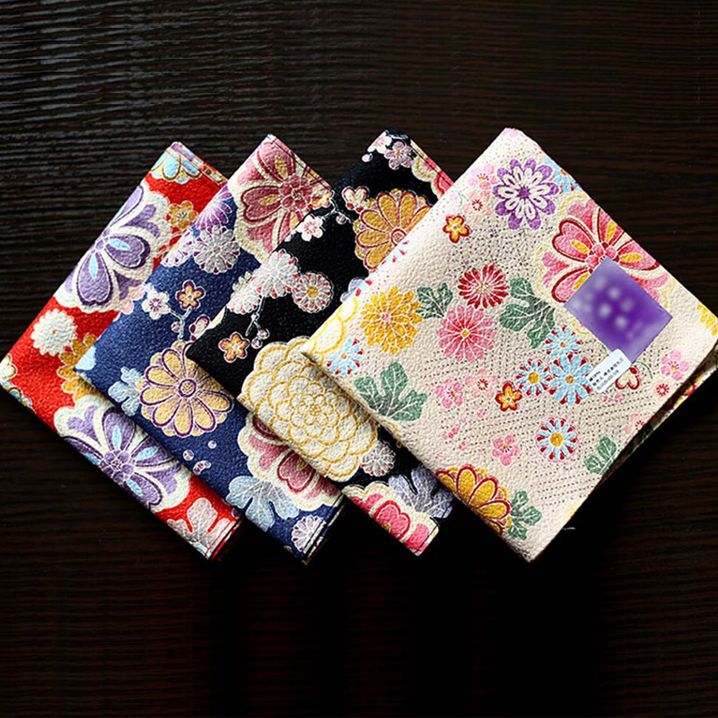 Nice Daisy Colorful Printing Large Square Handkerchiefs 53*53cm Women's Multi-use Soft Cotton Kerchiefs Luxury Pocket Hankies