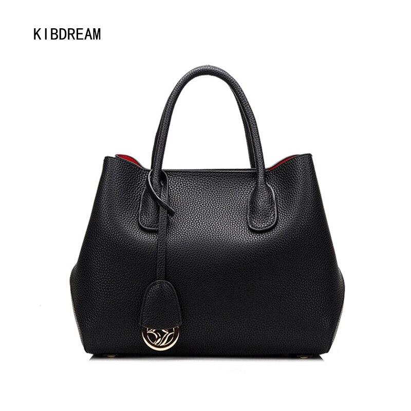 KIBDREAM 2017 Autumn New Korean Version, Litchi Line Platinum, Portable Lady, Large Capacity Shoulder Bag Free Shipping