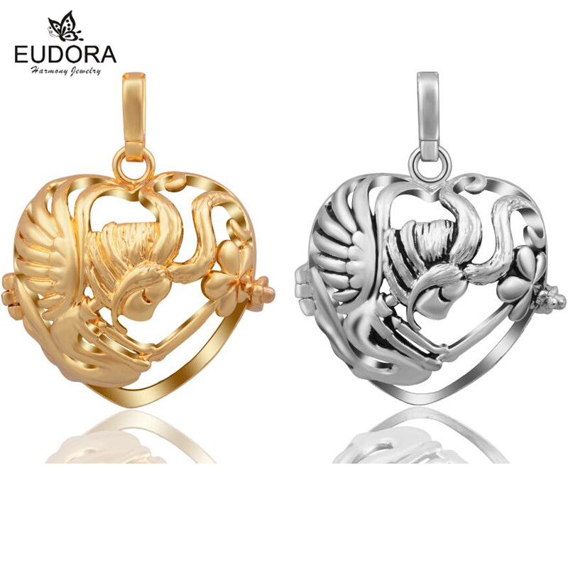 Eudora Harmony Bola Cute Litter Angel Floating Locket Cage fit Angel Caller Ringing Soft Chime Pendant Necklace Pregnancy Women