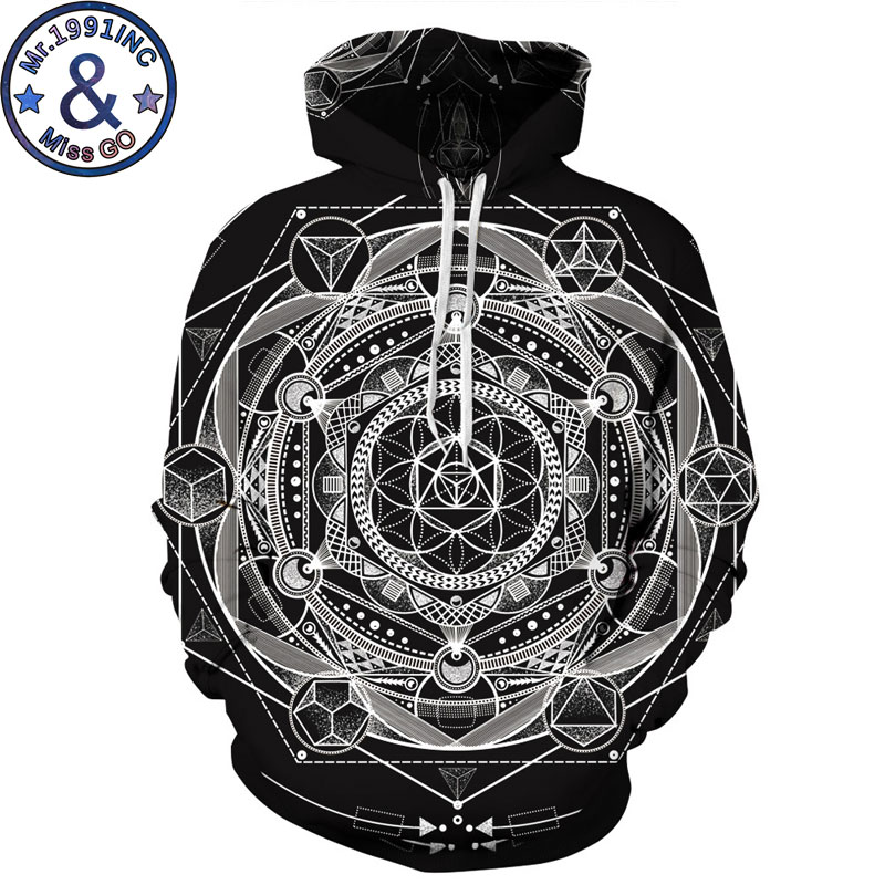 Esoteric Psychedelic Syle Hoodie Sweatshirt Men/Women 3D Hoodies Sweatshirts Men Hip Hop Streetwear Hooded Tracksuit Sweat Homme