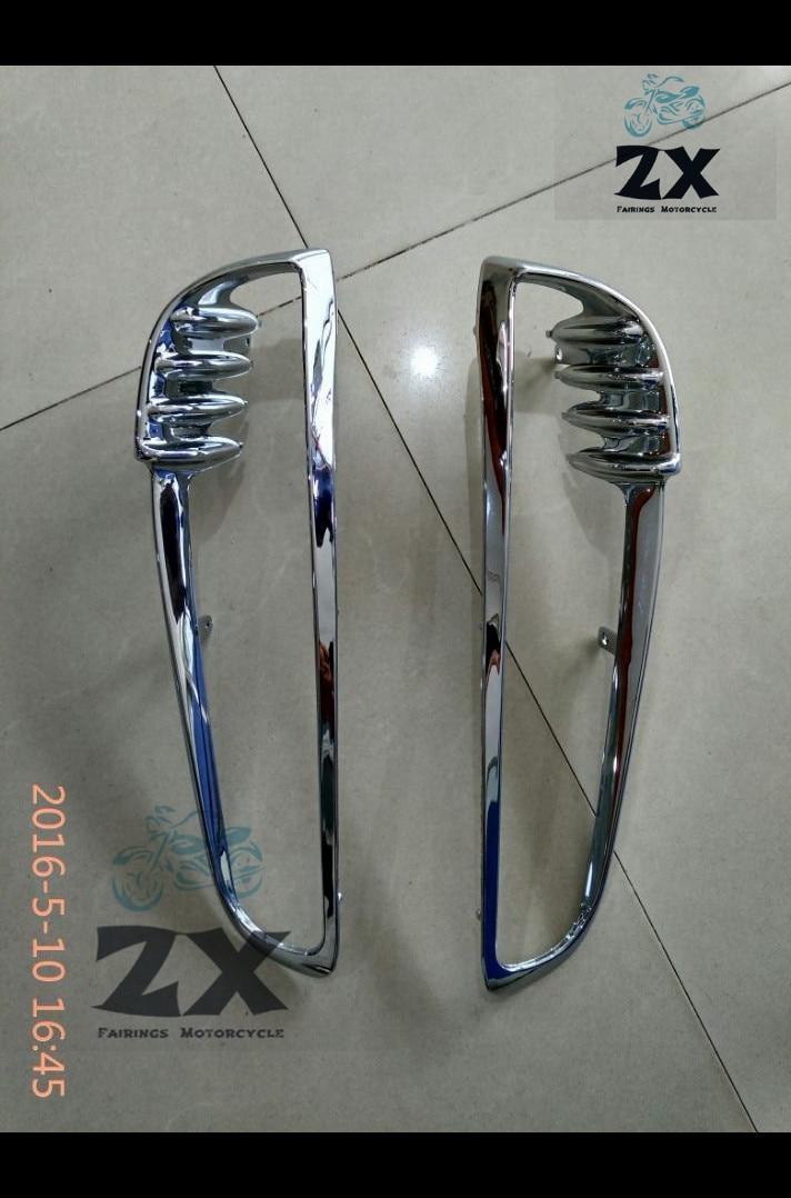 Chrome Motorcycle Radiator Trim Bezels Moto heat sink Frame Decoration case for Harley V-Rod VRSC VRSCDX 2001-2010