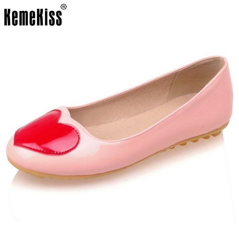 New Women Ladies Ballerina Slipper Flat Shoes Round Toe Sweet Spring Autumn Casual Shoes Flats Size 34-40 2017 spring summer new pointed flat flock bow women s shoes work shoes ballerina flats plus size 34 41