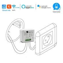 وحدة تبديل Wifi الذكية ، 110 ، 240 فولت ، 2500 واط ، مؤقت ، تحكم صوتي ، متوافق مع Alexa ، Google ، IFTTT ، App ، Smart Life
