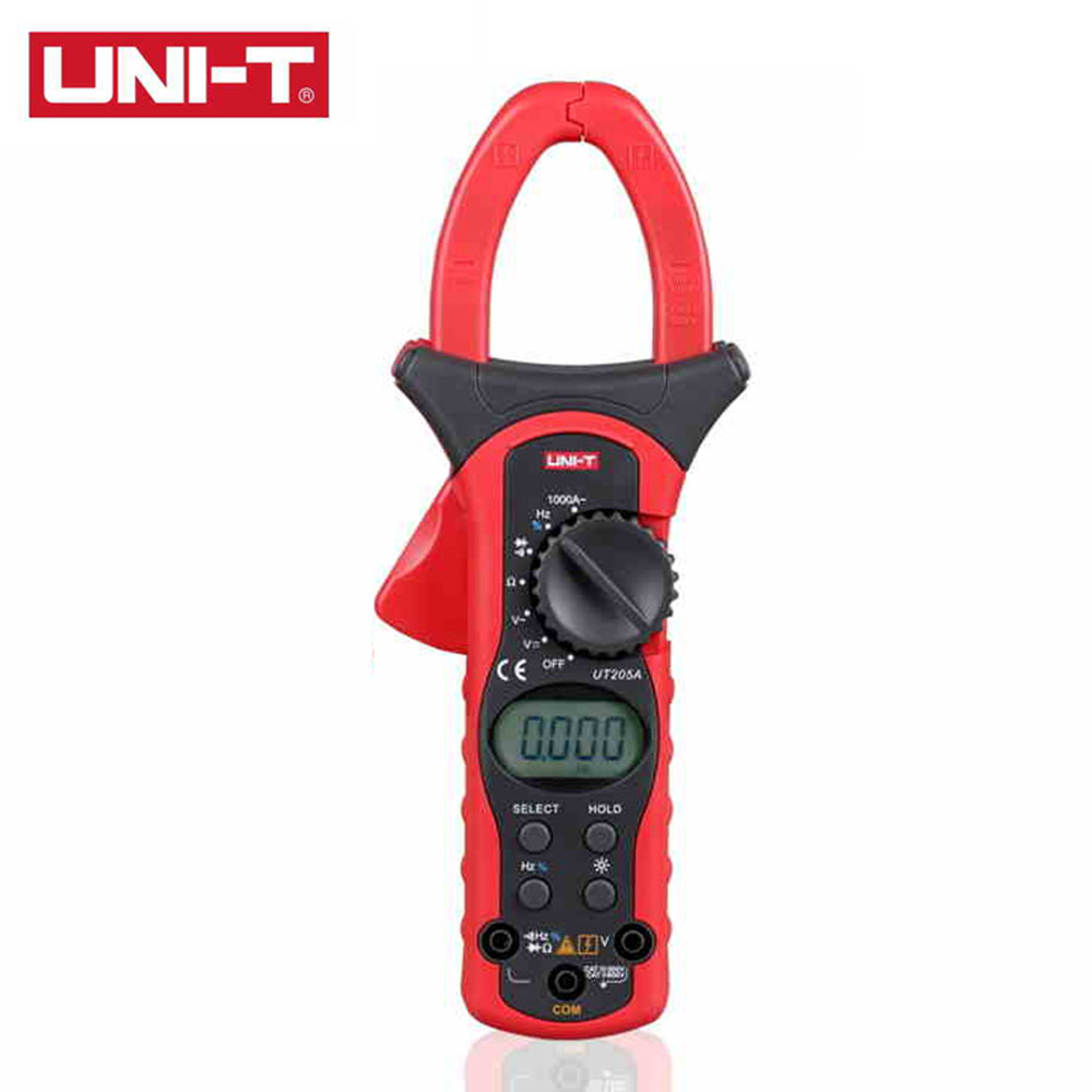 UNI-T UT205A Auto Range 1000A Digital Clamp Meters w/ Frequency Duty Cycle Test Multimeter Ammeter Multitester 1 pcs mastech ms8269 digital auto ranging multimeter dmm test capacitance frequency worldwide store