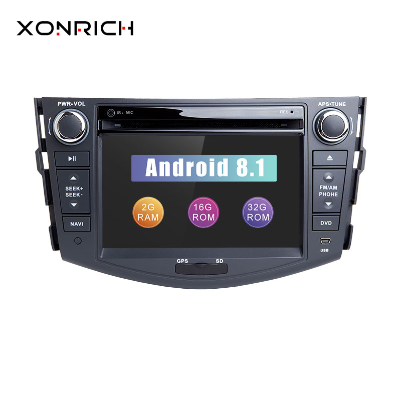 autoradio 2 din android 8 1 car dvd player for toyota rav4. Black Bedroom Furniture Sets. Home Design Ideas