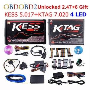 Image 1 - جهاز برمجة KESS V5.017 V2.53 + 4 LED KTAG V7.020 V2.23 لا يوجد رمز KESS 5.017 + K TAG K Tag 7.020 4 وحدة تحكم في الماكينة مع DHL Free