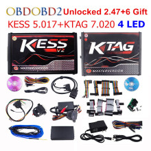 Newest KESS V5.017 V2.23 + KTAG V7.020 V2.23 No Tokens Limit KESS 5.017 + K-TAG K Tag 7.020 Used Online ECU Programmer DHL Free v2 47 online eu red kess v2 5 017 master obd2 manager tuning kit kess v5 017 4 led ktag v7 020 bdm frame k tag 7 020 ecu chip