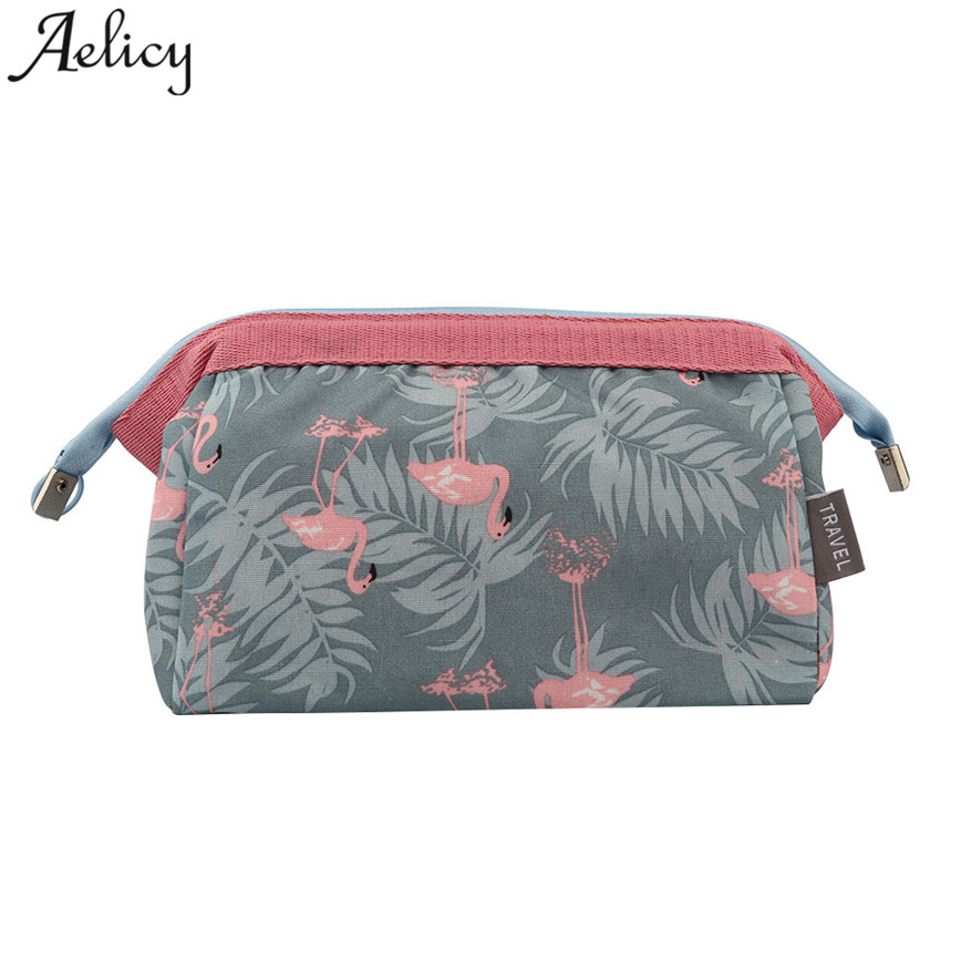 Aelicy Women Travel Cosmetic Bags Fashion Small Profesional Portable Canvas Cosmetic Cases Lady Print Hand Bags Makeup Bag S23 aosbos fashion portable insulated canvas lunch bag thermal food picnic lunch bags for women kids men cooler lunch box bag tote