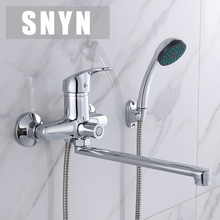 Russie livraison gratuite Salle De Bains robinet de douche robinets de bain mélangeur système Tropical Douche Douche rack avec mélangeur De Douche de cuivre