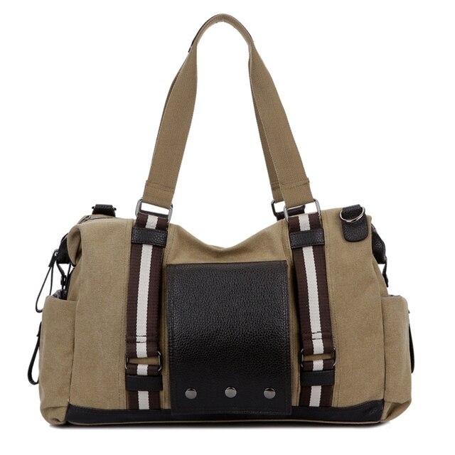 Marca Dos Homens da lona Do Vintage dos homens sacos de viagem mulheres carregam na bagagem & sacos de fim de semana de lazer Bolsas duffle bag grande capacidade