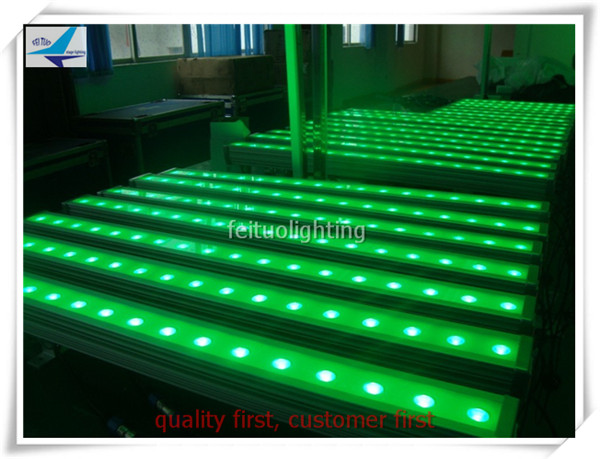 (20/lot)China wall panels waterproof wash bar led 18x3 watt led rgb wall washer dmx ip65 uplights