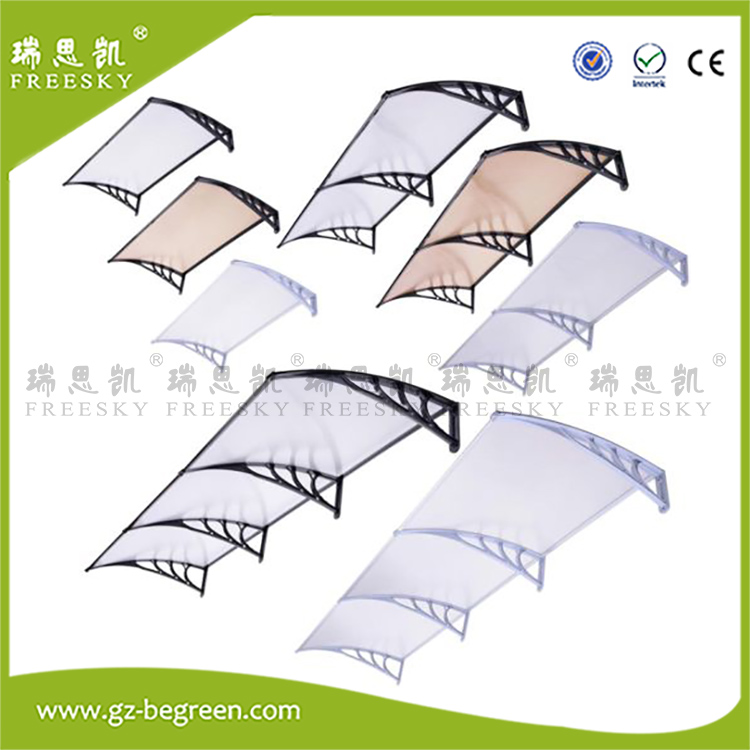 YP100600 100x600cm 100x200cm 100x300cmModern Polycarbonate Overhead Clear Front Door Window Awning Outdoor Patio Cover Canopy yp80100 80x100cm 80x200cm 80x300cm clear window awning diy overhead door canopy decorator patio cover